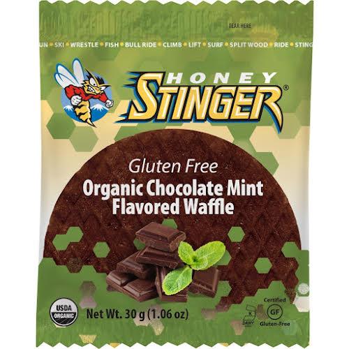 Honey Stinger Gluten Free Organic Waffle: Mint Chocolate, Box of 16