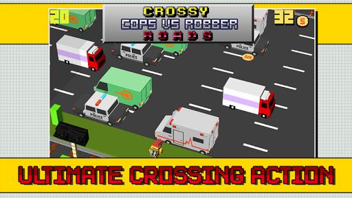 Crossy Cops vs Robber Roads
