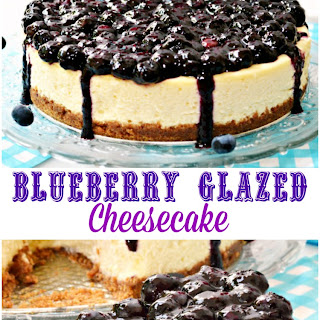 Blueberry Glazed Cheesecake.