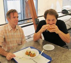 Photo: eating famouspani câ meusa, a sandwich of spleen & lung with ricotta. mmmmm....