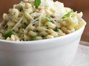 Fusilli With Garlic Pesto