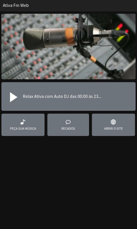 Ativa Fm Web- screenshot
