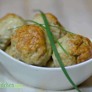 Low Carb Chicken, Cheddar and Chives Meatballs.