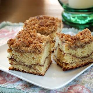 Sour Cream Coffee Cake with Chocolate Cinnamon Swirl.