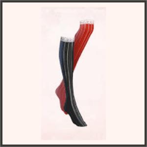 黒赤ハイソックス