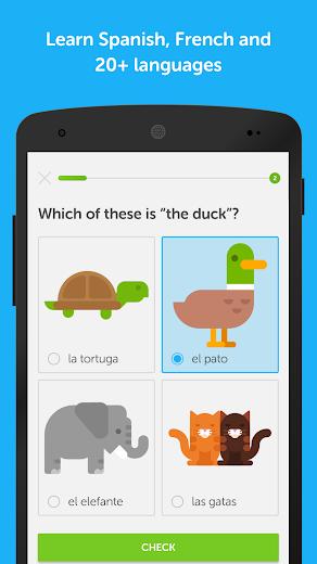 Screenshot 0 for Duolingo's Android app'