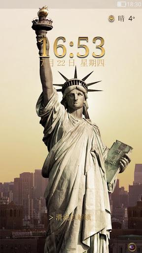 自由女神像 - 闪电锁屏主题
