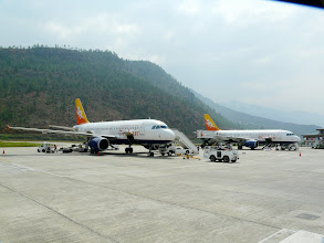 Photo: Die Druk Air wartet auf uns