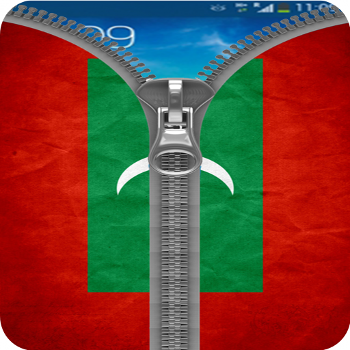 Maldive Flag Zipper Screenlock