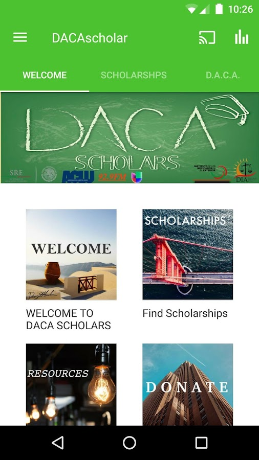 DACA Scholars- screenshot