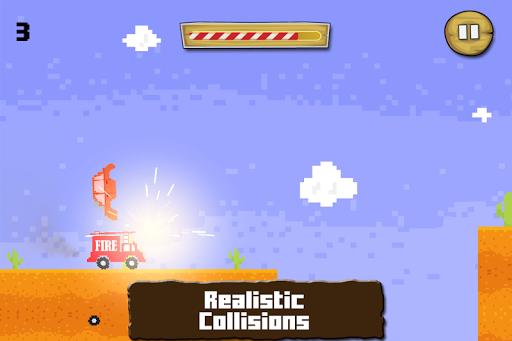 疯狂跳动的消防车赛车