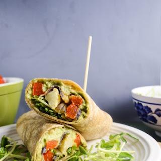 Roasted Vegetable Avocado Garden Wraps