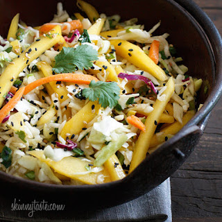 Asian Cabbage Mango Slaw.