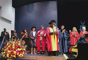 Former Deputy Chief Justice Dikgang Moseneke was honoured with a doctorate's degree by Wits University