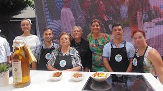 Tres platos de cocina tradicional almeriense que pudieron degustar los asistentes.