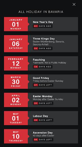 Germany Holiday Calendar 1.6 Screenshots 4
