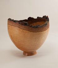 "Photo: Tim Aley 6"" x 6"" natural-edge bowl [Tudor Place oak]"