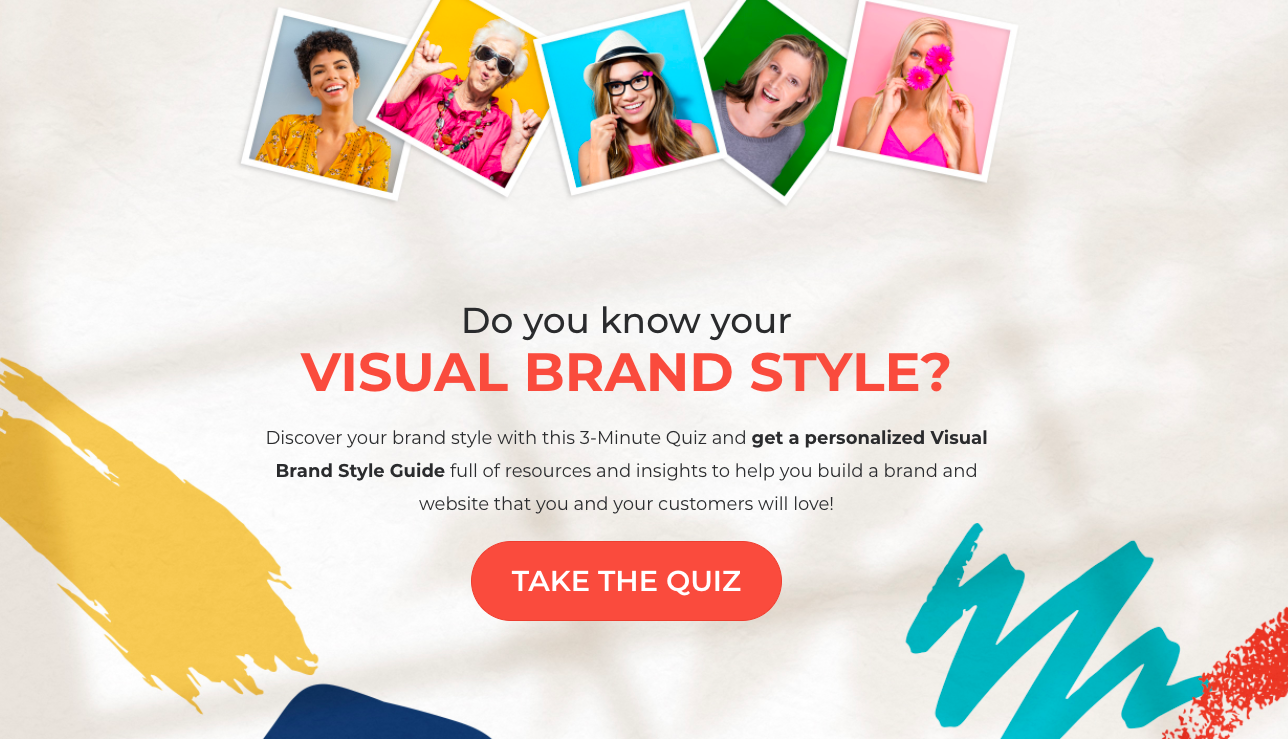 do you know your visual brand style quiz cover with call to taction