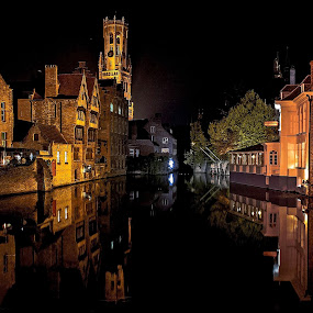 Brugge..... by Ioannis Alexander - City,  Street & Park  Historic Districts ( historic districts, night photography, reflections, long exposure, brugge,  )