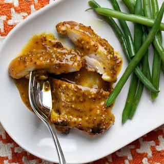 Chicken Thighs With Mustard-Orange Sauce.