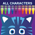 pj heroes masks coloring glitter icon
