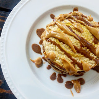 Peanut Butter Cup Protein Pancakes