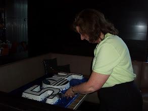 Photo: Cutting Mercantile Capital Corporation's SBA 504 Cake! www.504LoanRefi.com