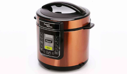 Russel Taylors pressure cooker has an 8liters capacity which makes it perfect for large families. Source: Russell Taylors