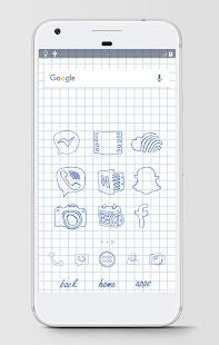 Hand drawn - Icon Pack Theme Screenshot