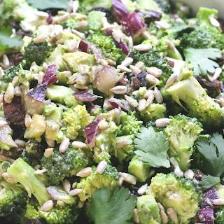 Healthy Creamy Broccoli Salad.