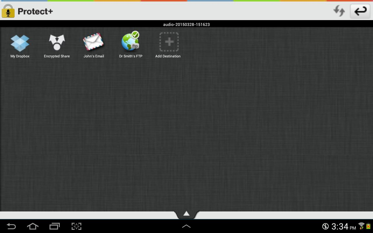 Protect+ Voice Recorder Pro- screenshot