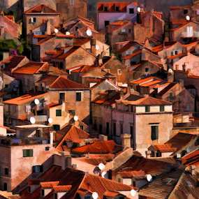 Dubrovnik by Dominic Jacob - Buildings & Architecture Homes ( roof, dubrovnik, housetop, croatia, antenna )