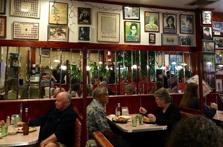 The cafe is packed with memorabilia.