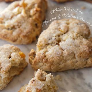 White Chocolate, Apricot, and Walnut Scones Recipe