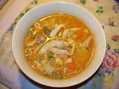 "Homemade Chicken Noodle Veggie Soup""This soup is great for the cool weather,..."
