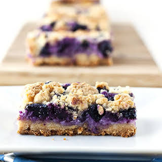 Creamy Blueberry Crumb Bars.