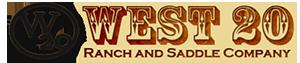 West 20 Ranch & Saddle Company Logo