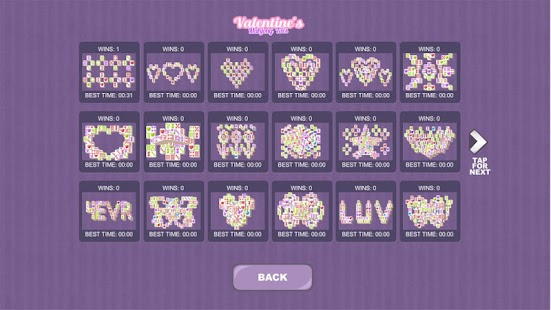 Valentine's Mahjong Tiles Screenshot