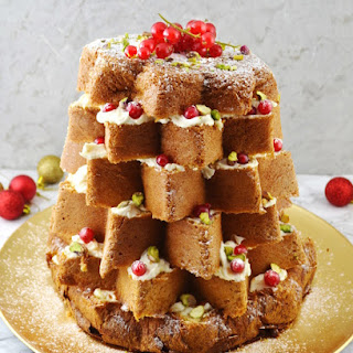Pandoro Christmas Cake with Pistachios and White Chocolate