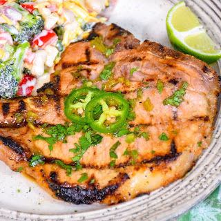 Cilantro Lime Grilled Pork Chops – Keto.