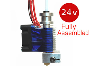 E3D All-metal v6 HotEnd Fully Assembled 1.75mm Universal (with Bowden add-on) (24v)
