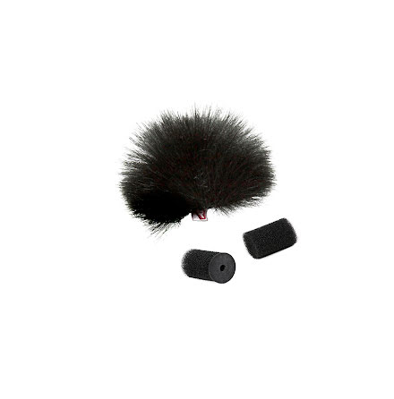 Black Lavalier Windjammer Singel - Rycote