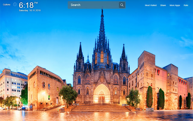 Barcelona Wallpapers Theme New Tab