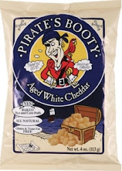 Pirate's Booty Puffed Rice & Corn - Aged White Cheddar, 113g