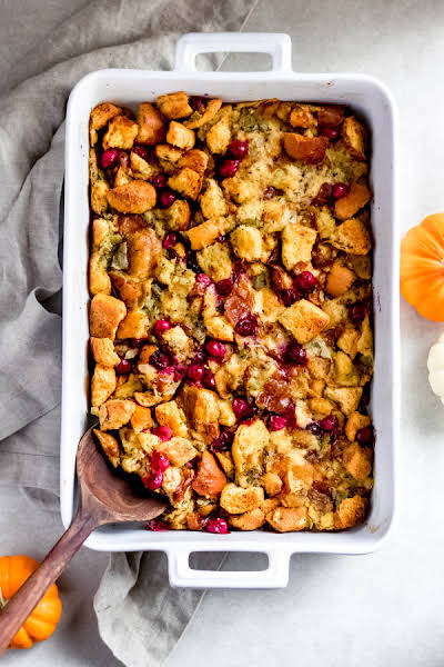 Brioche Stuffing with Cranberries