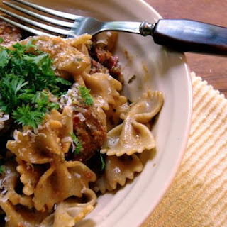 Farfalle With Sun-Dried Tomato Pesto, Sausage and Fennel