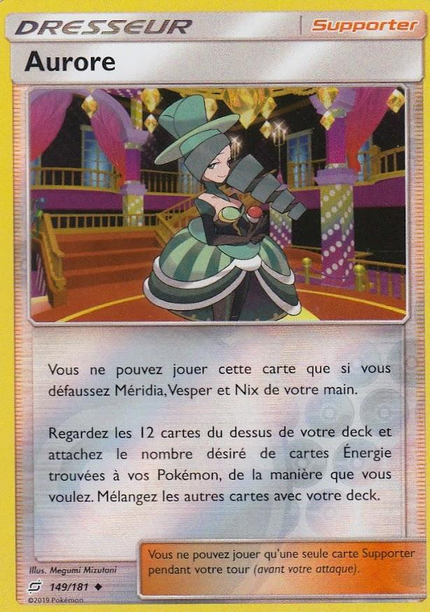 Carte Pokemon AURORE 149//181 REVERSE Soleil et Lune 9 SL9 FR NEUF