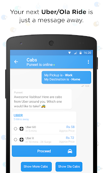 Haptik Assistant - Reminders, Flights, Cabs