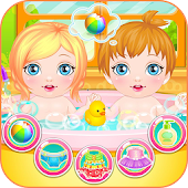 Newbown twins baby game