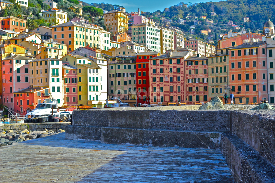 ITALY Camogli IV by Felice Bellini - City,  Street & Park  Neighborhoods ( tokai art station, camogli, 50 mm, urban living, italy, canon 550d,  )